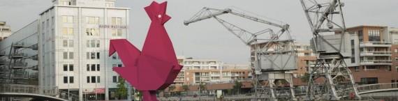 Le coq de la French Tech sur les docks de la presqu'île Malraux. L'Alsace parviendra-t-elle à compenser ses faiblesses ? (Photo Studio Amopix)