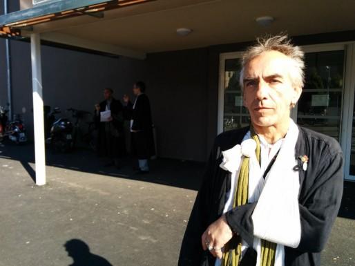 Bertrand Rambaud, président de l'UFCM et atteint du VIH, veut pouvoir utiliser le cannabis pour soulager ses douleurs. (Photo PF / Rue89 Strasbourg)