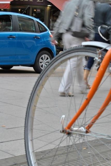 Le vélo, rue du Maire Kuss (photo G. Grieshaber)