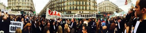 Les avocats strasbourgeois à Paris (Photo Maître Chat / Twitter)