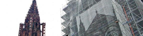 La cathédrale de Strasbourg, toujours en chantier. (Photo OG / Rue89 Strasbourg / cc)