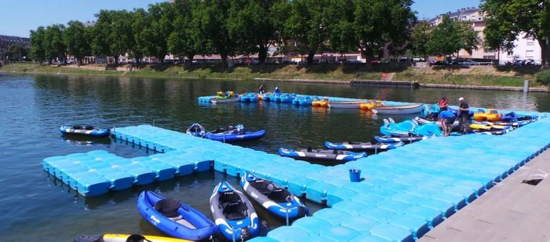 Des pédalos et des canoës aux Docks d'été