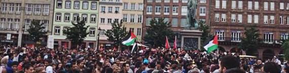 Manifestation pro-palestinienne à Strasbourg samedi 12 juillet (Photo Sarah Campbell / Twitter)