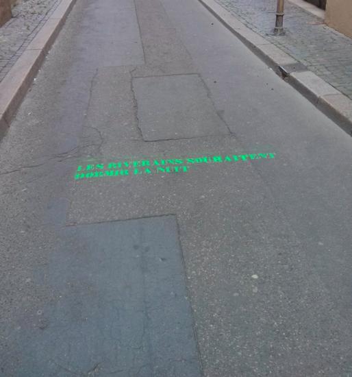 Message de l'association Calme Gutenberg dans la rue. (Capture d'écran de la page Du Calme Gutenberg)