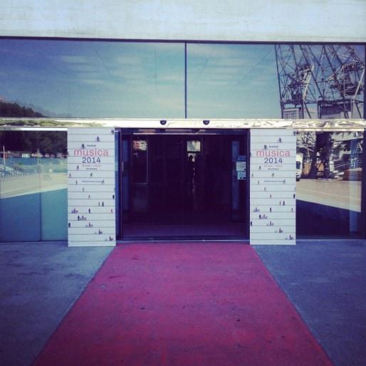 Photo prise lors de la présentation de la programmation du festival Musica à la médiathèque André Malraux. (Photo CB / Rue89 Strasbourg / cc)