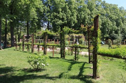 La roseraie, dans le parc de la Pépinière. (Photo Flickr / Caroline Léna Becker / cc)