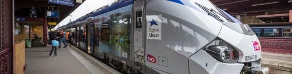 Tarif spéciaux dans les TER Alsace pour se rendre à la manifestation contre la réforme territoriale. (Photo Claude Truong-Ngoc / Wikimedia Commons / cc)