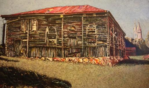 Le travail de Gilles Vuillard comprend aussi des synagogues en feu. Ces toiles rappellent la fragilite de ces lieux.