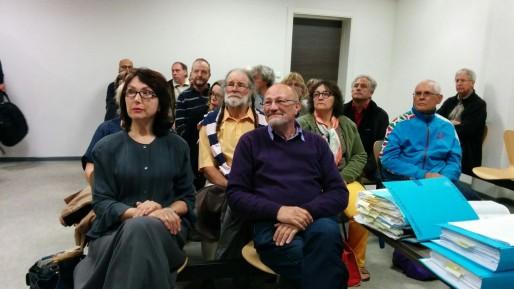 Viviane Schaller à gauche, Bernard Christophe à droite. (Photo PF / Rue89 Strasbourg)