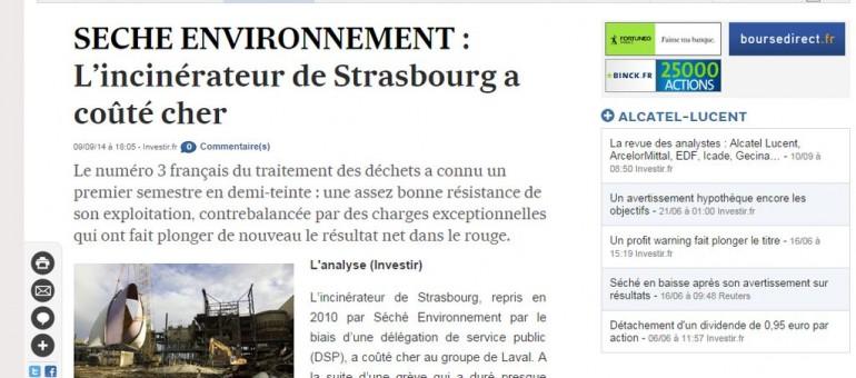 Seché Environnement en déficit suite à la grève à l'incinérateur de Strasbourg