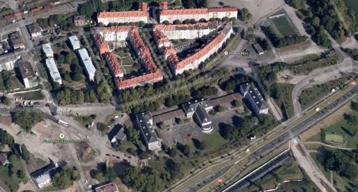 Le quartier résidentiel historique du Port-du-Rhin (doc Google Maps)