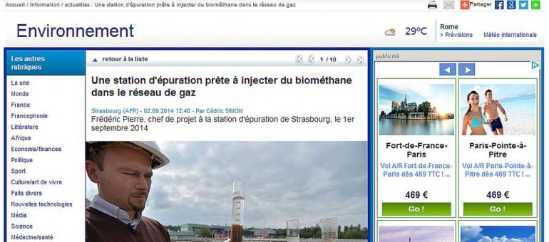 La station d'épuration de Strasbourg prête à injecter du biométhane dans le réseau de gaz