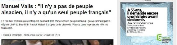 Manuel Valls France 3 Alsace