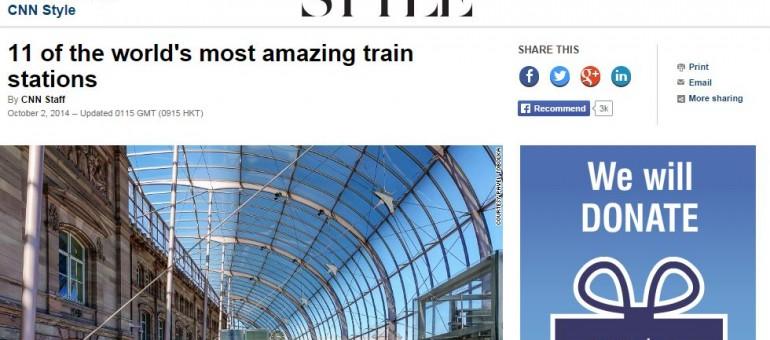 La gare de Strasbourg, septième parmi les «plus incroyables» au monde pour CNN