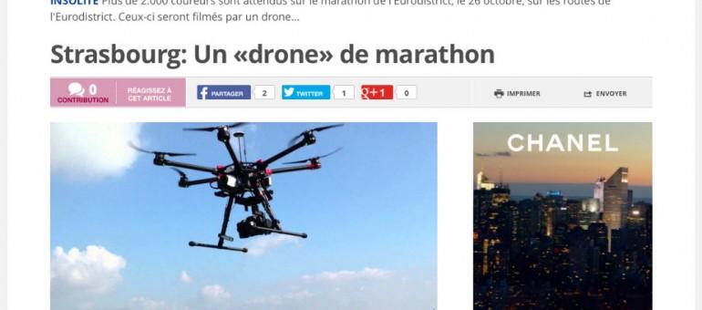 Un drone pour filmer le marathon de Strasbourg