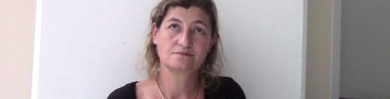 """Julie Brochen : """"le chemin vers la parité à la direction des théâtres est encore long"""" (capture d'écran Médiapart)"""