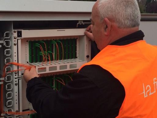 À Lingolsheim, 4 700 logements sont raccordés à la fibre selon Orange (Photo Orange)