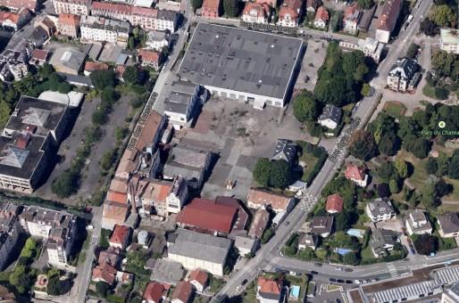 Le site de la brasserie Schutzenberger, rue de la Patrie à Schiltigheim (doc Google Maps)