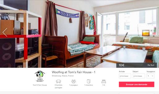L'association Tom's Fair House profite de la visibilité d'Airbnb pour accueillir des voyageurs dans ses six appartements à Strasbourg.