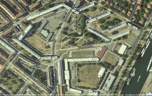 Les rues du secteur portent les noms de villes belges, donnés pour la plupart à la fin du XIXème siècle (Capture Archi-Strasbourg)