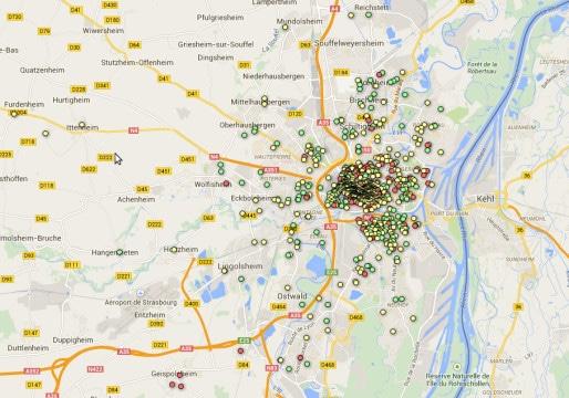 Plus de 1000 logements sont disponibles sur le site Airbnb à Strasbourg.