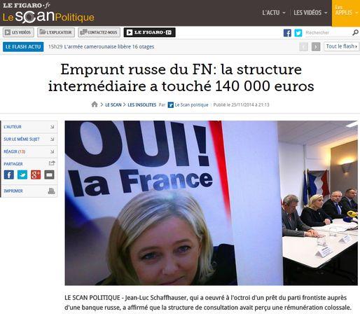 Selon Le Canard Enchaîné, Jean-Luc Schaffhauser est l'intermédiaire de l'emprunt russe du FN (capture d'écran)