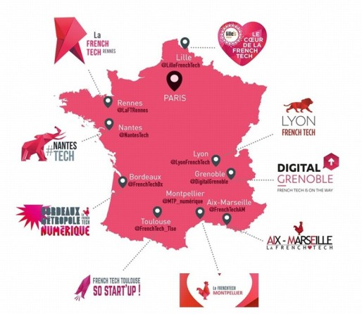 Le logo du coq affublé d'une coiffe alsacienne ne figure pas sur la carte des neuf premières métropoles French Tech. Peut-être que ça donne le temps de le changer ?