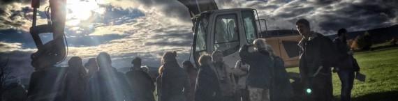 Les opposants au golf de la Sommerau ont empêché les ouvriers de débuter les travaux mardi (Photo Gaspard Glanz / Taranis News)