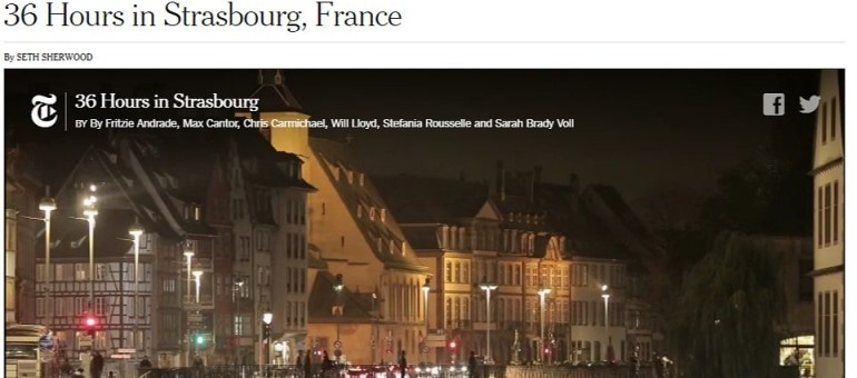 Le New York Times passe un week-end à Strasbourg
