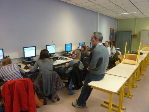 Grâce à une application, chaque élève peut voir quel savoir il maîtrise ou non (Photo TL / Rue89 Strasbourg)