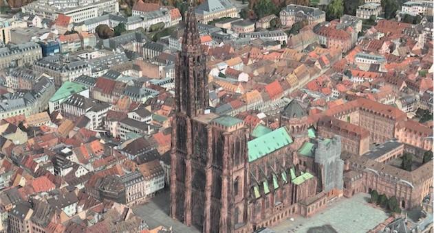 Strasbourg en 3D sur les iPad, iPhone et Mac