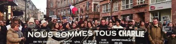 La manifestation du 11 janvier à Strasbourg (Photo Annie Herzog)