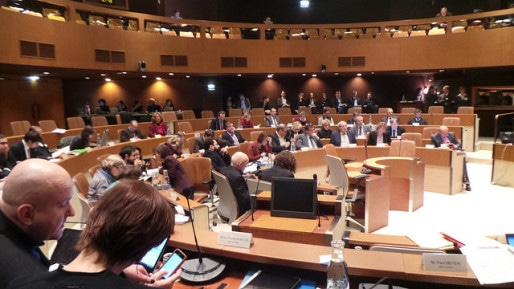 L'hémicycle des conseil municipaux et communautaires sera mis à disposition (Photo PF / Rue89 Strasbourg)