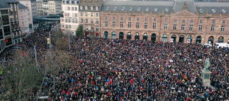 45 000 personnes ont participé au cortège «Strasbourg est Charlie»