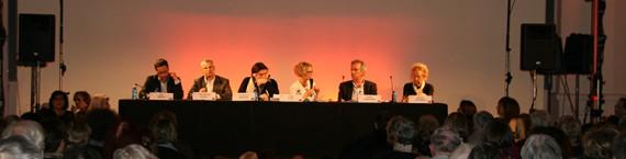 Beaucoup de monde à l'Aubette en janvier 2014 pour le Forum de bioéthique (Photo FEBS)