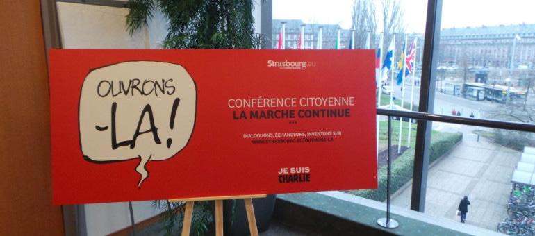 Conférence(s) citoyenne(s), Strasbourg se donne un mois de réflexion