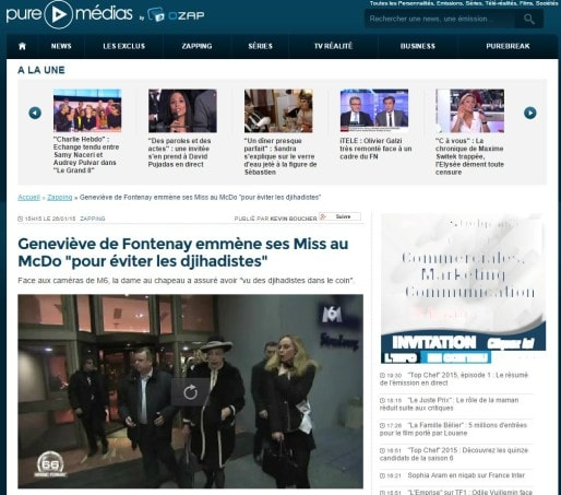 Beauté de la médiatisation people, le drama schillckois a été filmé (capture d'écran)