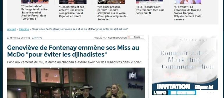 Geneviève de Fontenay a «vu des djihadistes» à Schiltigheim et emmène ses Miss au McDo