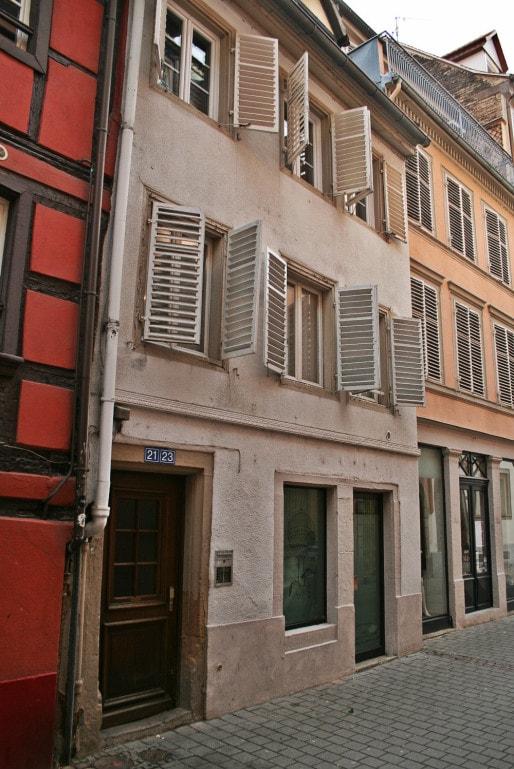 Au 21-23 rue Sainte-Madeleine, un long conflit a opposé propriétaires et locataires en 1976-78 (Photo MM / Rue89 Strasbourg)