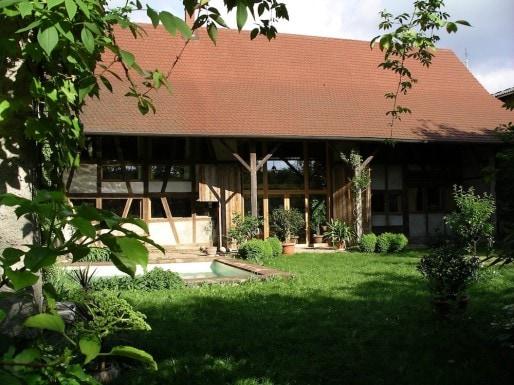 Transformation d'une grange en maison d'habitation à Fegersheim (Crédit - Claude Eichwald)