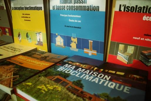 La maison d'édition Terre Vivante produits de nombreux ouvrages sur l'éco-construction (Photo MM / Rue89 Strasbourg)