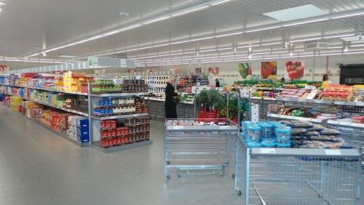 À l'intérieur d'un Aldi, plus d'un millier de références, presque toutes en marques distributeur (Photo PF / Rue89 Strasbourg)