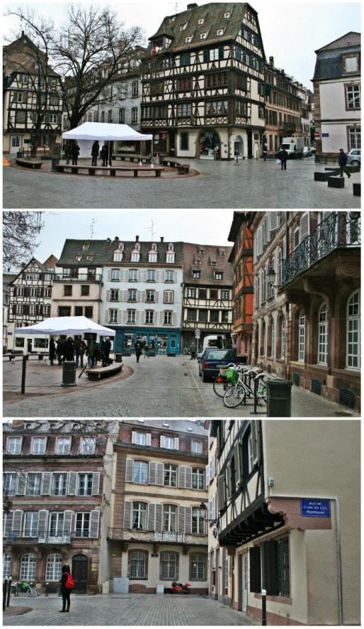 L'ovale en grès au milieu de la place a été conservé, seule la bordure a été refaite (Photo MM / rue89 Strasbourg)