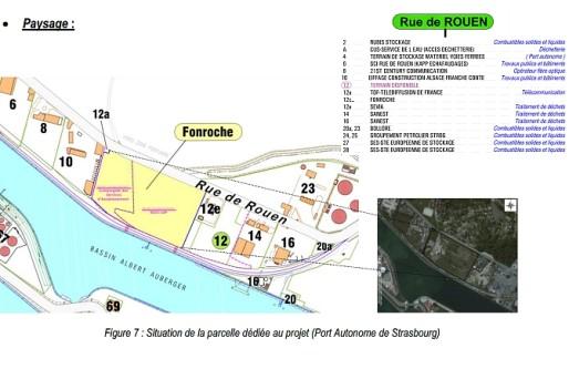 Un plan du site du Port aux pétroles. Source: DREAL/Fonroche