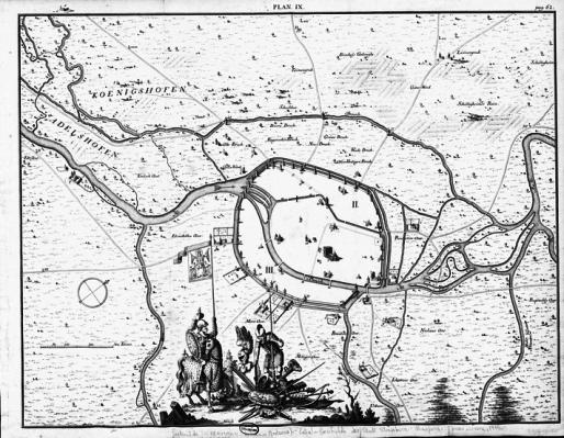 Plan de Strasbourg au XIIIème siècle (Source Wikipédia)