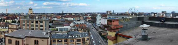 Sur le toit de la brasserie Fischer. (Photo Collectif Entrée Sud Ouest Schilick)