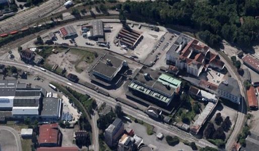 L'ancien siège social de la Coop, au Port du Rhin, accueille désormais les nuits électroniques de l'Ososphère. (capture d'écran Google Map)