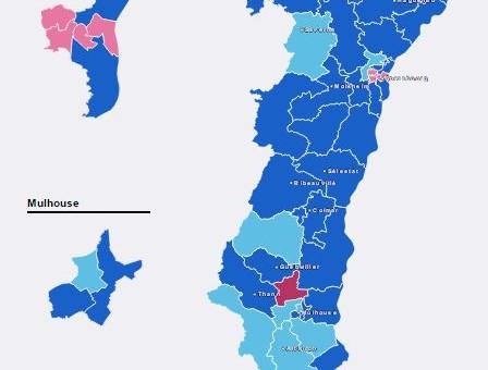 Départementales : triomphe de la droite, aucun élu FN en Alsace