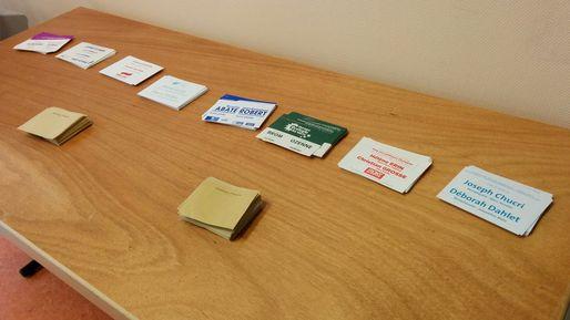 Les bulletins de vote pour le canton Strasbourg - 2 (Photo PF)