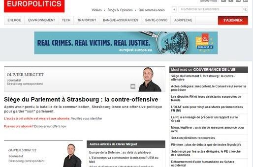 De 40 à 60 000 euros pour un lobby pro-Strasbourg à Bruxelles